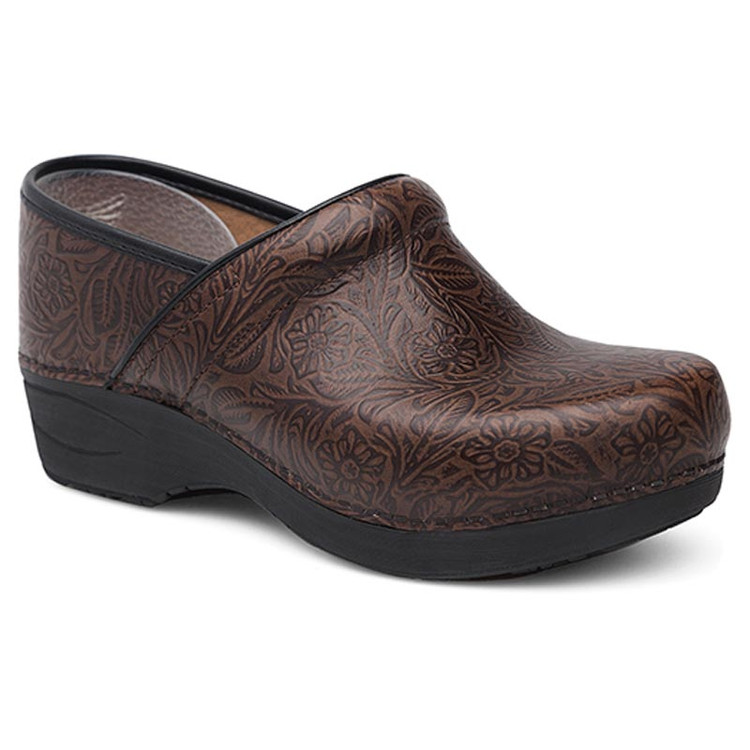 Dansko XP 2.0 Floral Tooled Brown