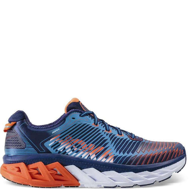 Hoka Men's Arahi Medieval Blue Red orange