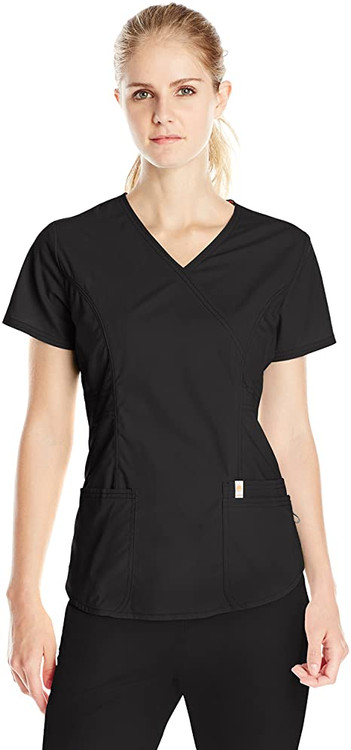 Code Happy Solid Scrub Top