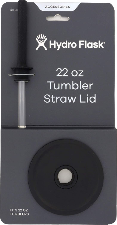 HydroFlask 22 0z Tumbler Straw Lid Black