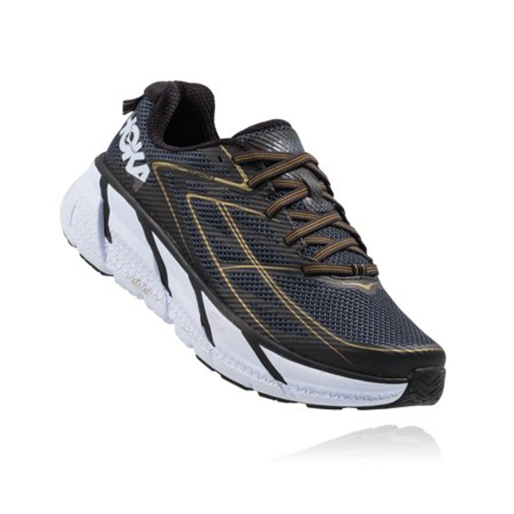 Hoka Men's Clifton 3 Midnight Navy Metallic Gold