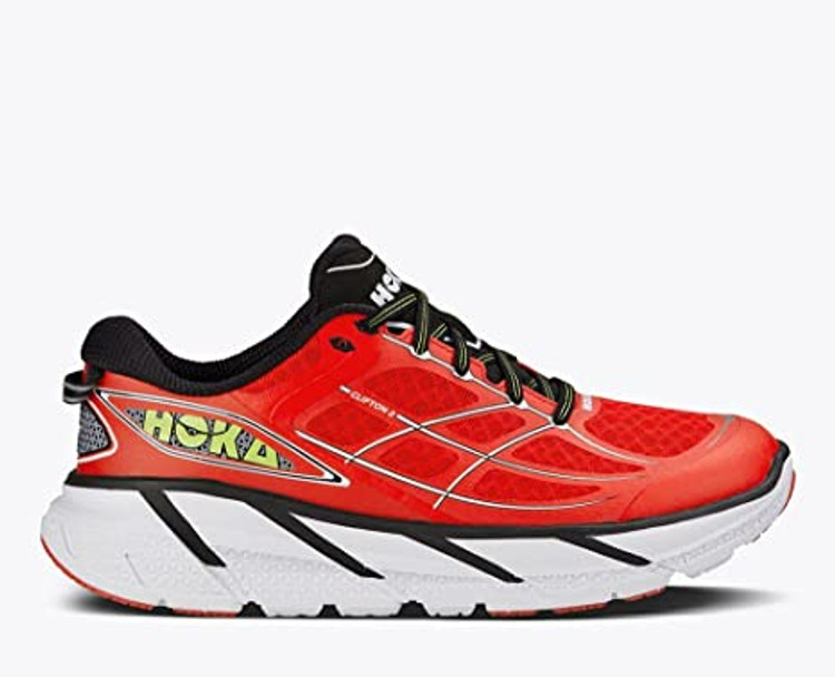 Hoka Men's Clifton 2 Poppy Red White