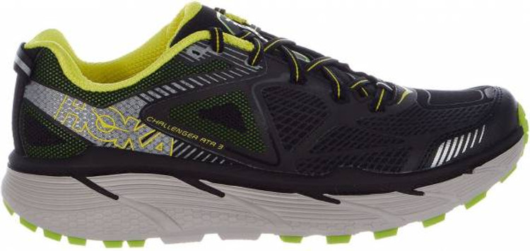 Hoka Men's Challenger ATR 3 Black Bright Green Citrus