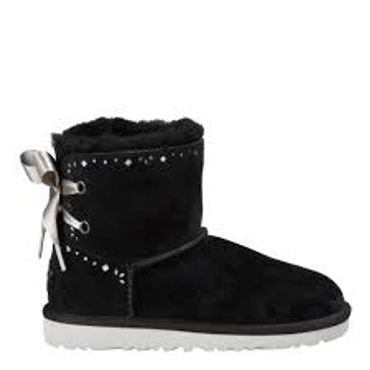 Ugg Kid's Dixie Flora Perf Black