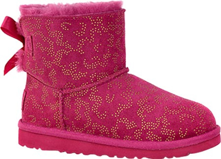 Ugg Kid's Mini Bailey Bow Metallic Conifer RVT