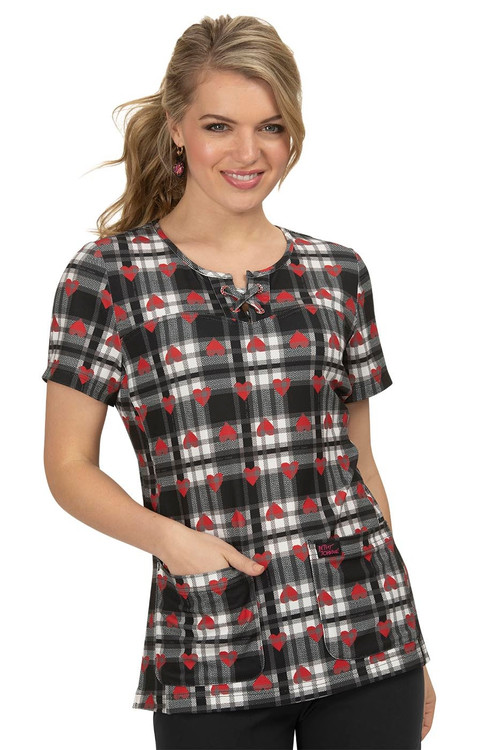 Betsey Johnson Clover Heart Plaid