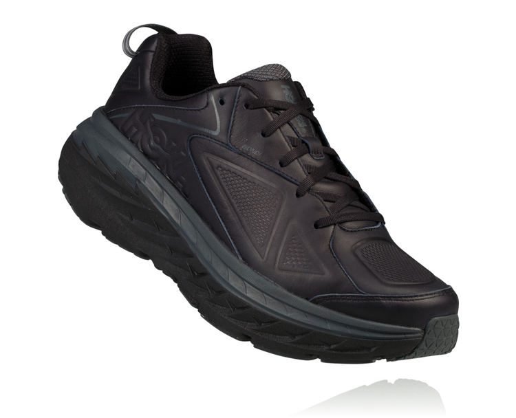 Hoka Men's Bondi Leather black Wide