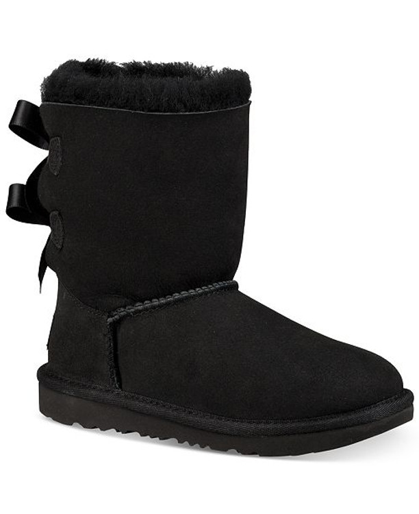 UGG Girls' Bailey Bow Sheepskin Boots