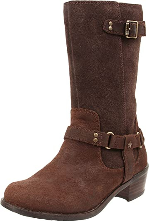 UGG Girls Caddie Western Leather Boot Lodge