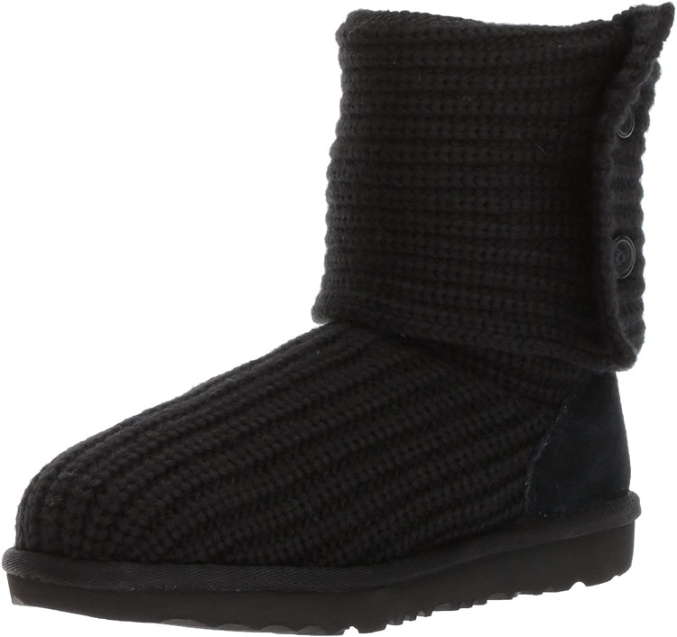 UGG Girls Cardy Knit Boot Black
