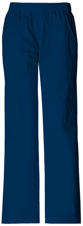 Cherokee Women's Mid Rise Pull-On Pant Cargo Pant