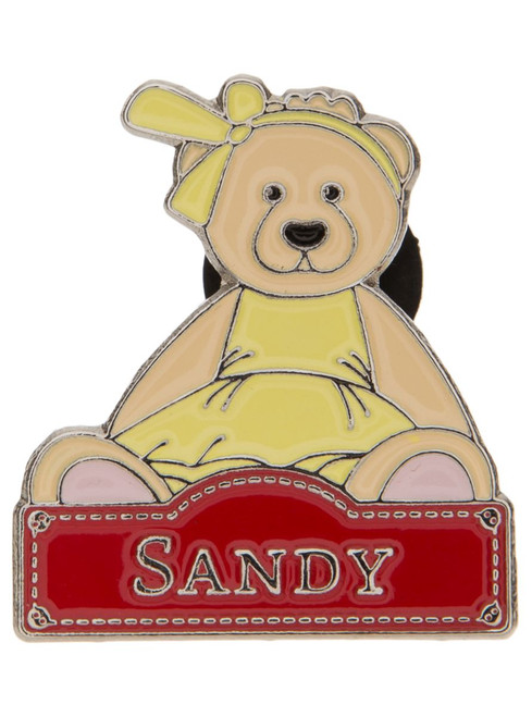 Alice's Bear Shop - Sandy pin badge