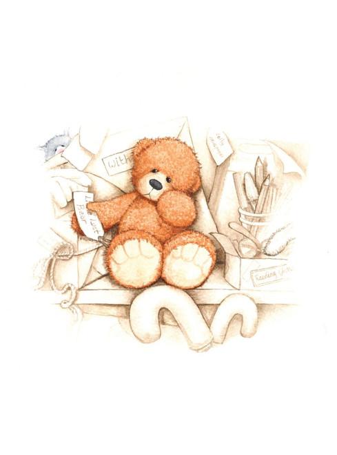 Alice's Bear Shop Art Print - Little Lost Bear