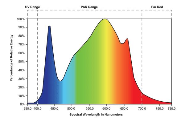 Blue Spectrum LED Chart