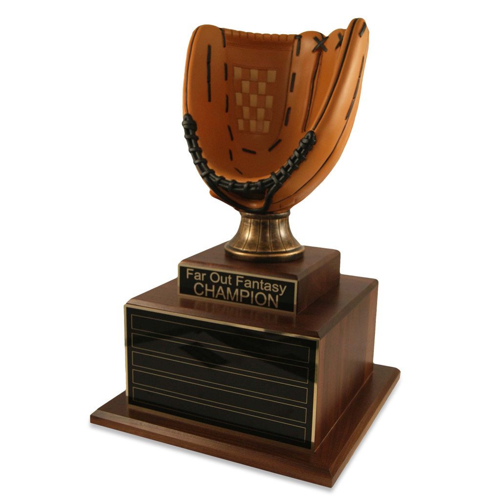 Perpetual Deluxe Baseball Glove Trophy