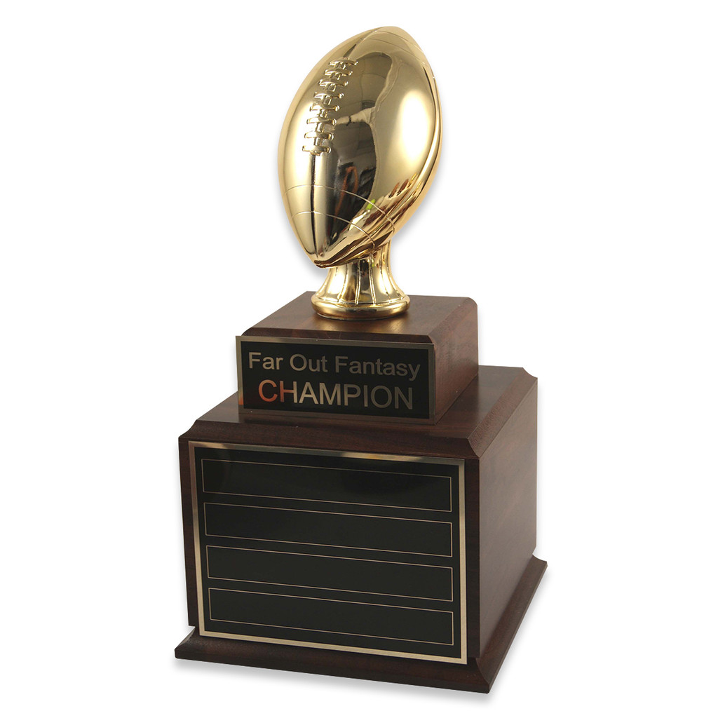Perpetual Wood Fantasy Football Gold Trophy