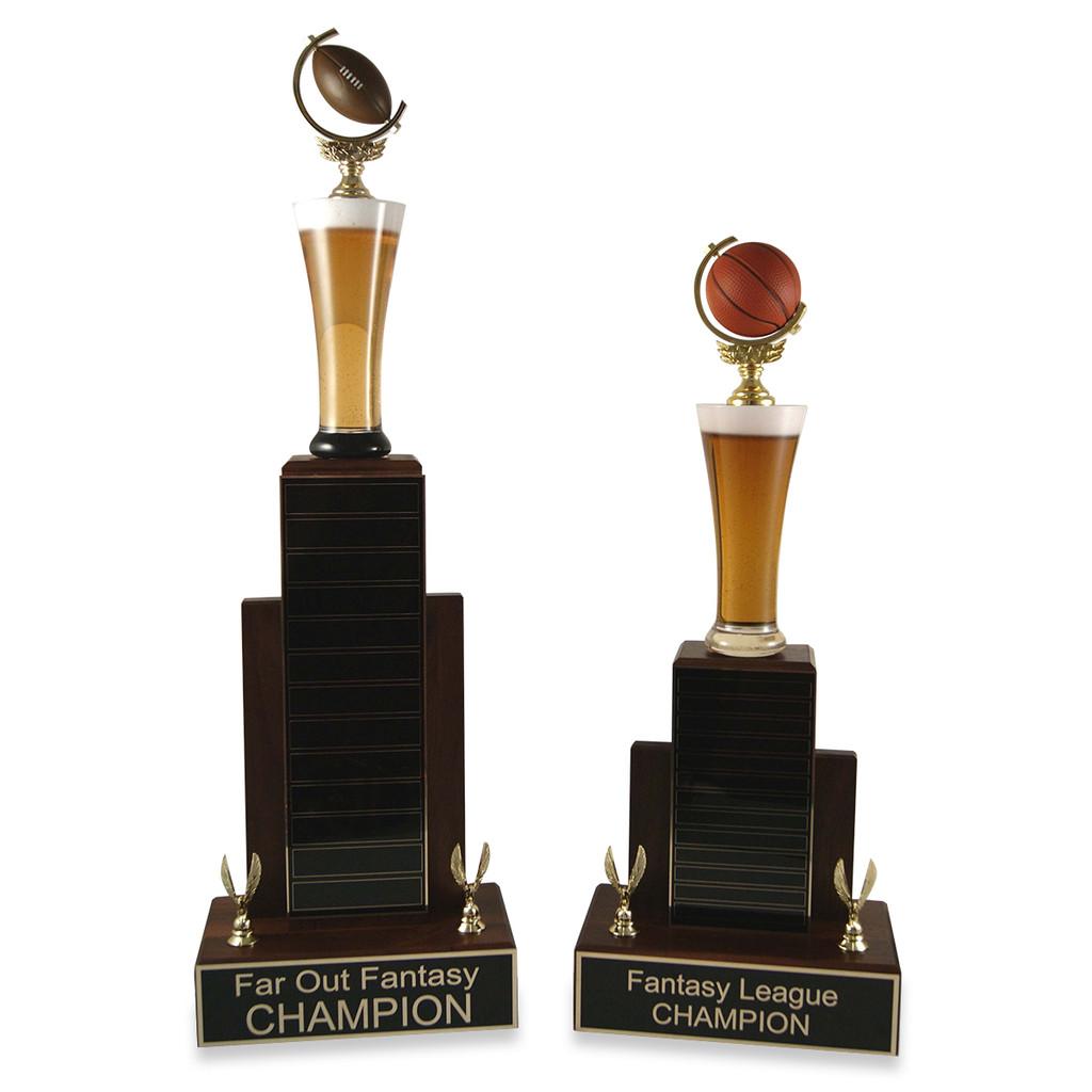 MVP Beer Baseball Trophy