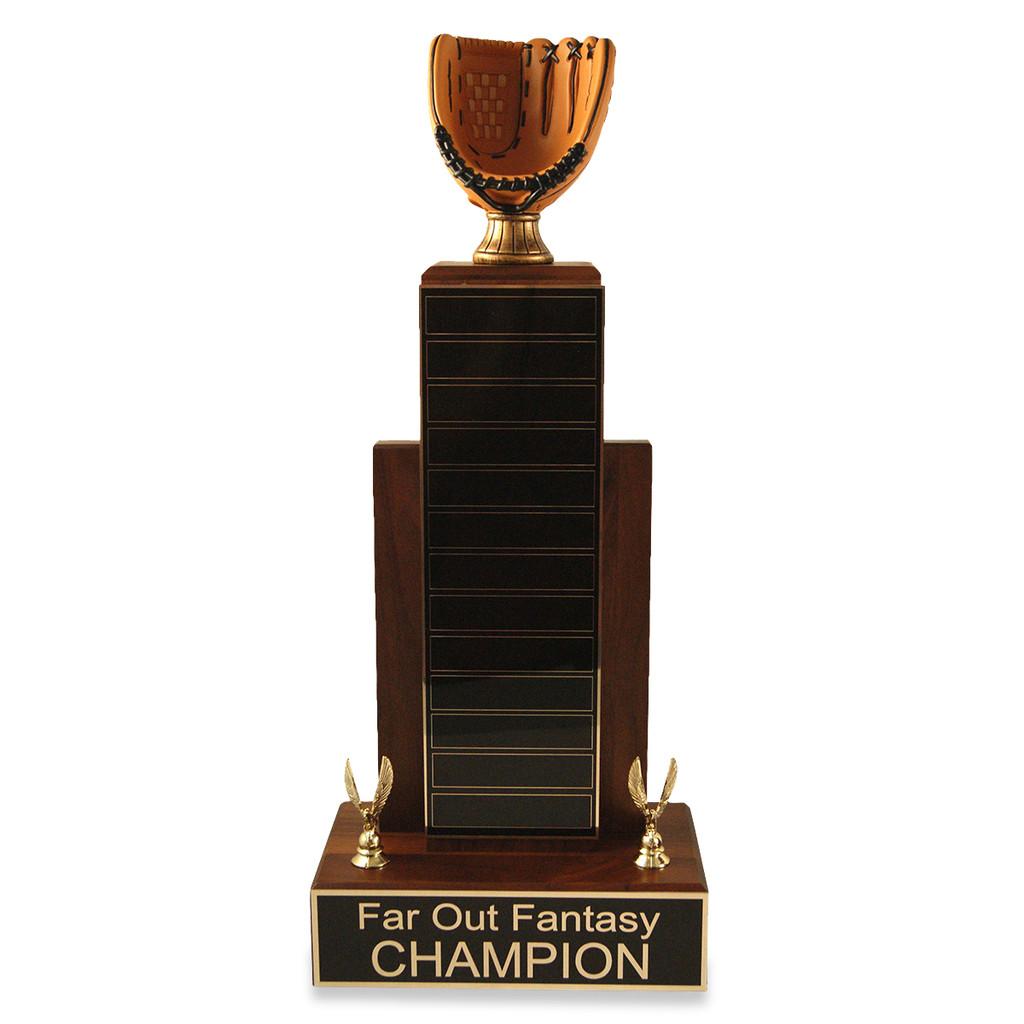 Large MVP Baseball Glove Trophy