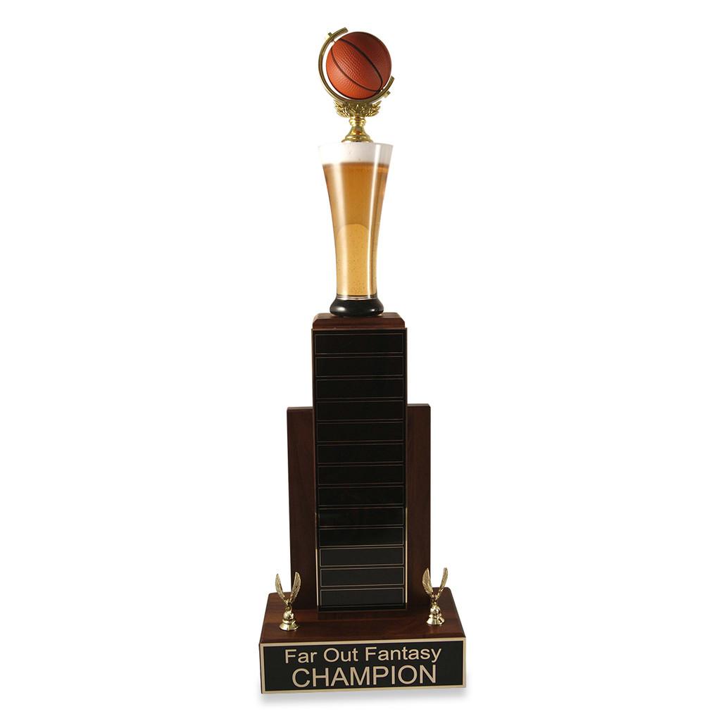 Large MVP Beer Basketball Trophy