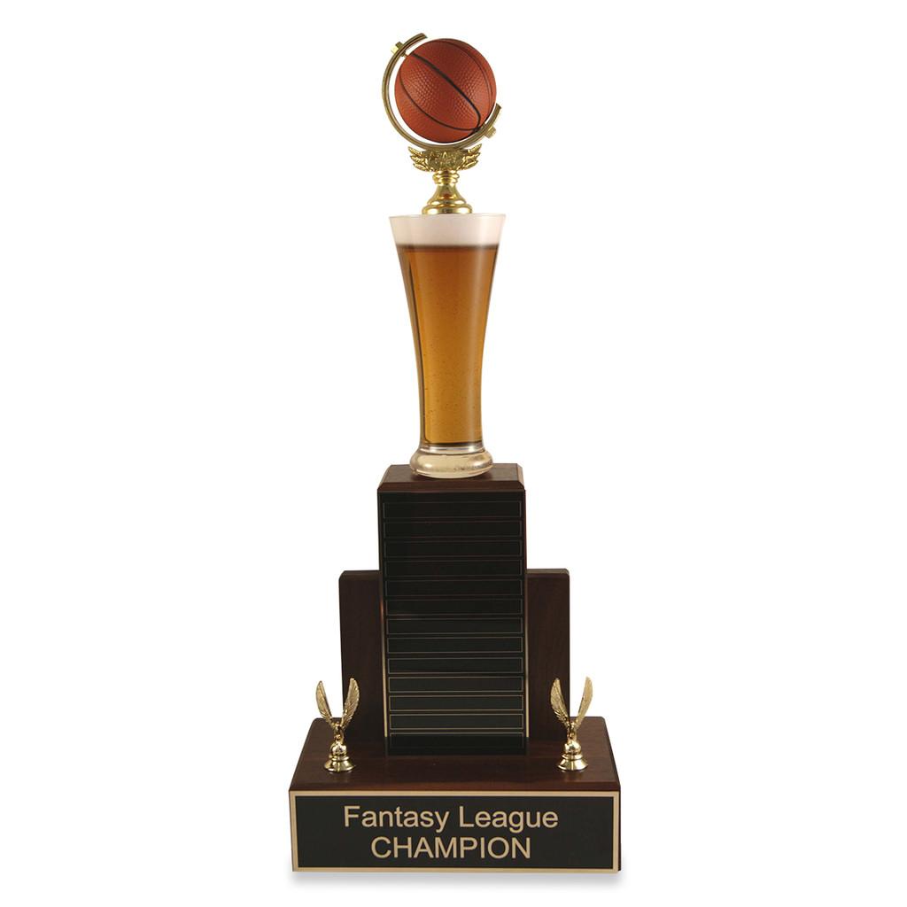 Small MVP Beer Basketball Trophy