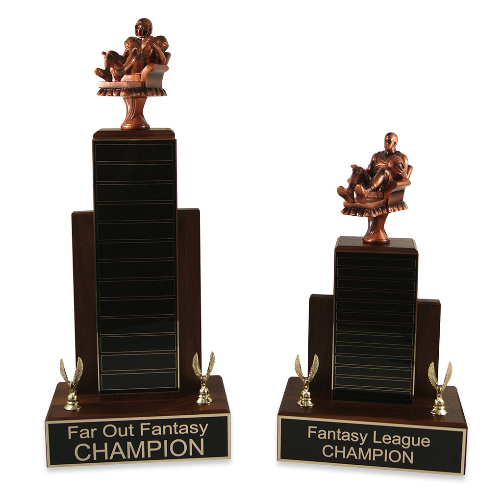 Large vs Small MVP Fantasy Football Armchair Man Trophy