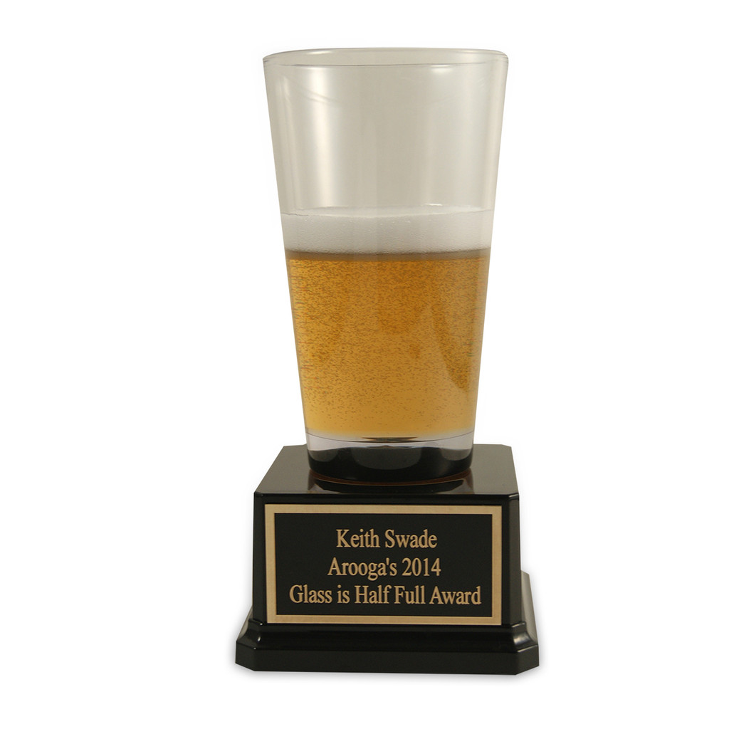 Beer Pint Trophy Half Full