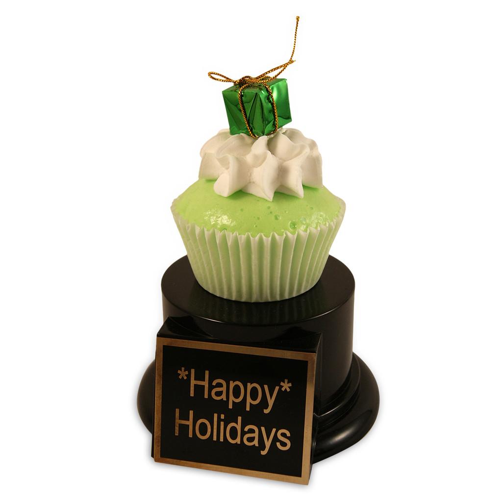 Green Gift Cupcake Trophy