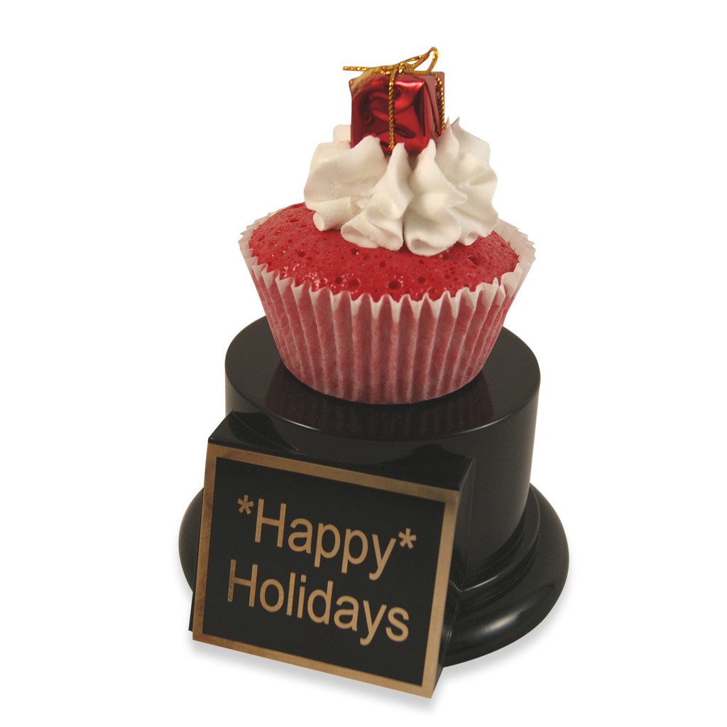 Red Gift Cupcake Trophy