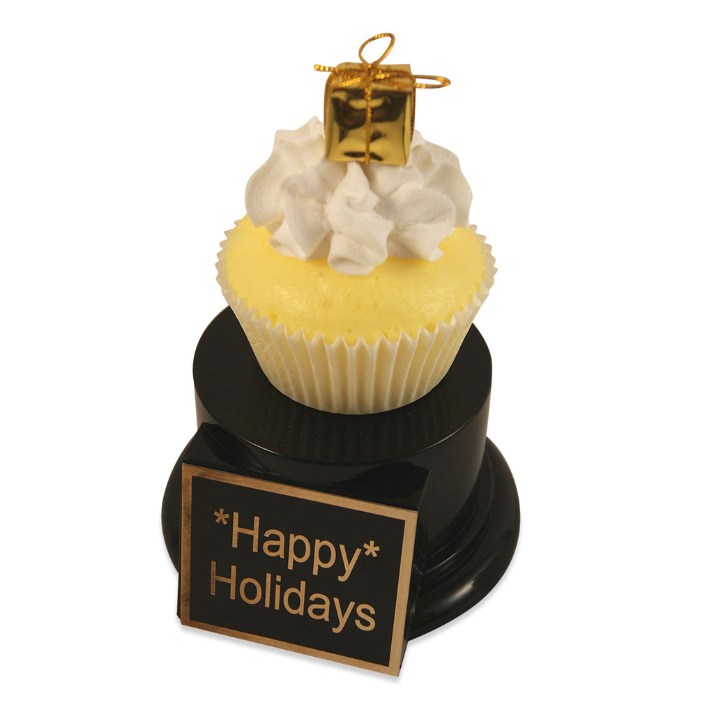 Yellow Gift Cupcake Trophy