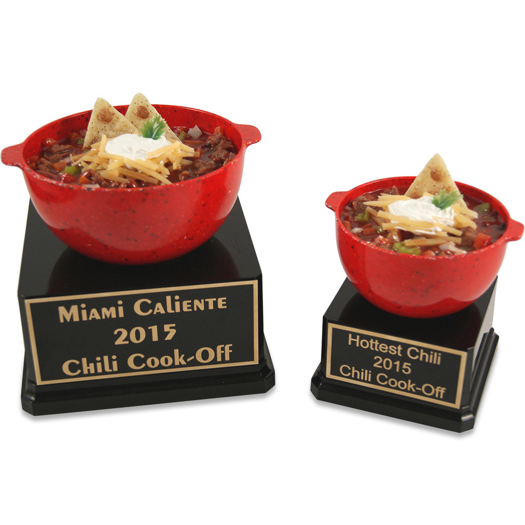 Large Bowl of Chili Trophy and Medium Bowl of Chili Trophy