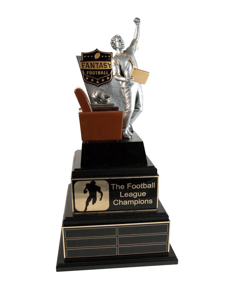 Fantasy Football Champ Award with Gold Plates