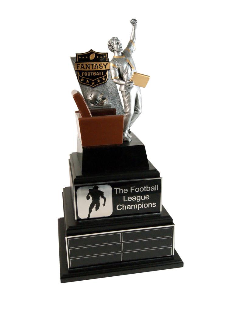 Fantasy Football Champ Award with Silver Plates