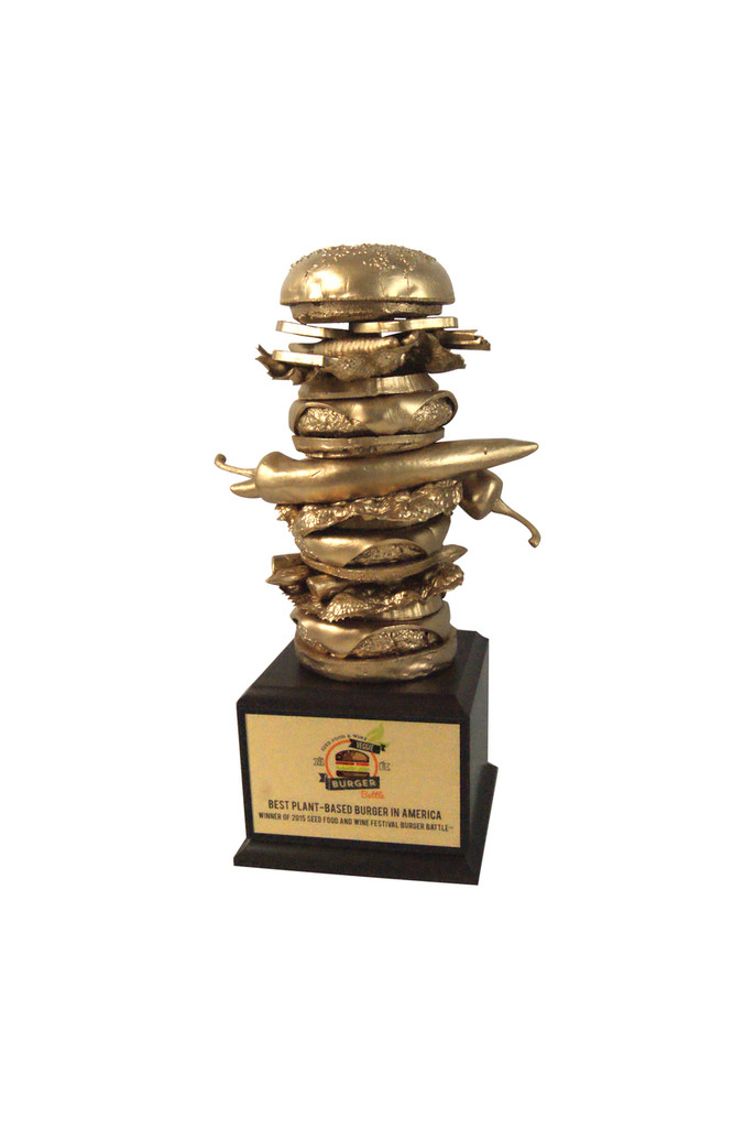 Golden Crazy Burger Trophy