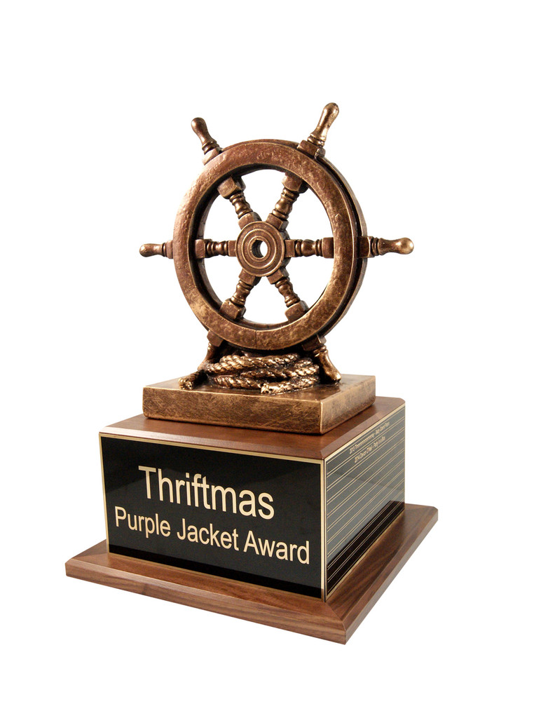 Ship Wheel Trophy