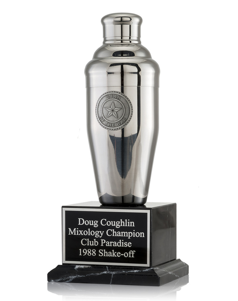 Star of the Bar Cocktail Shaker Trophy