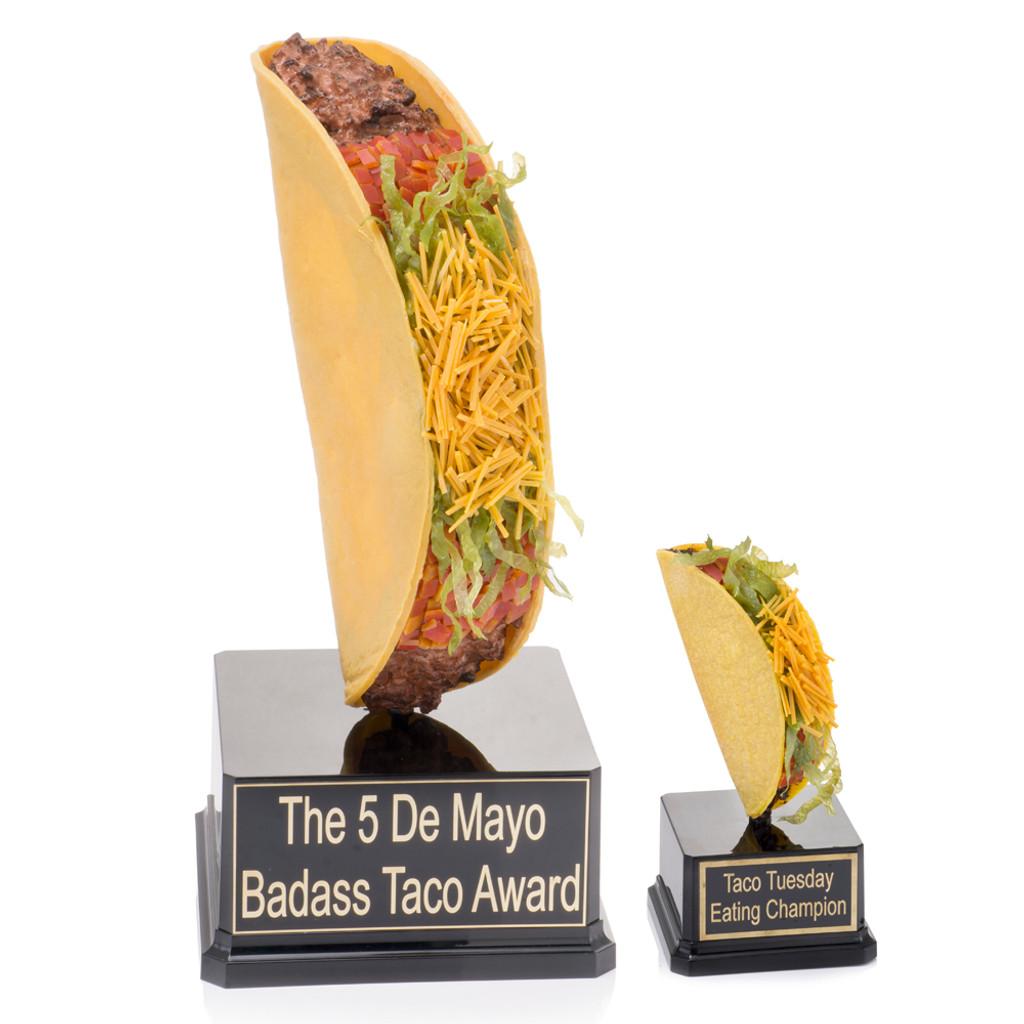 Giant Taco vs Regular Taco Trophy