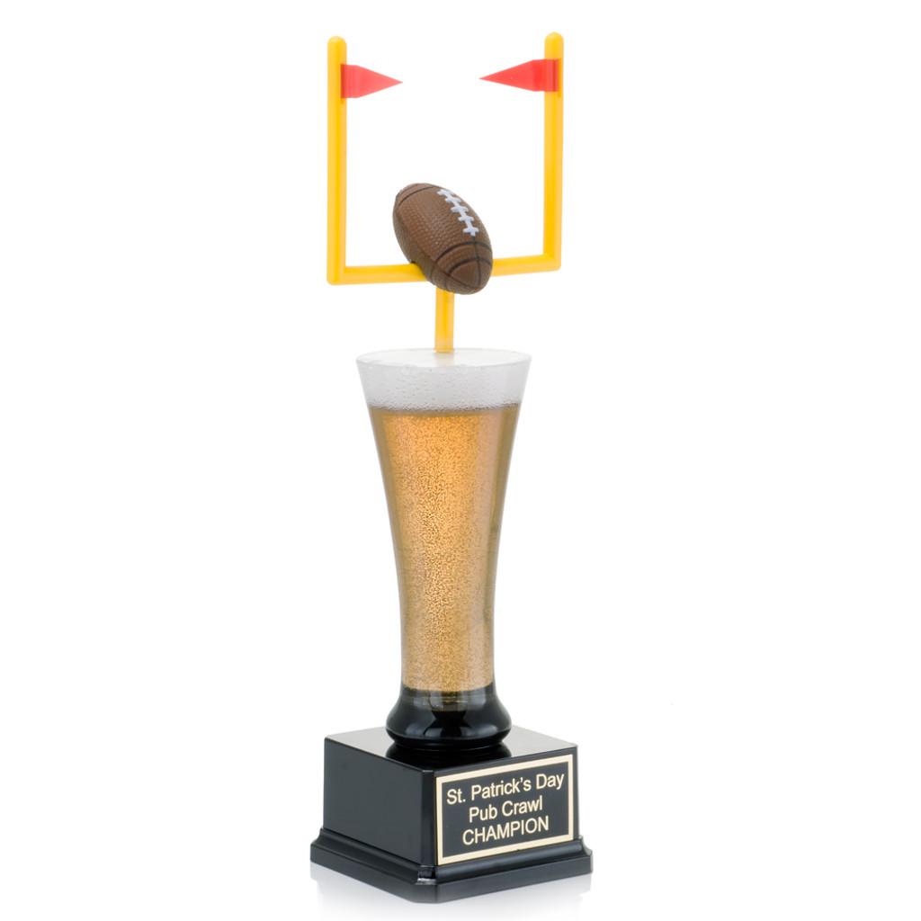 Fantasy Football Field Goal Beer Trophy