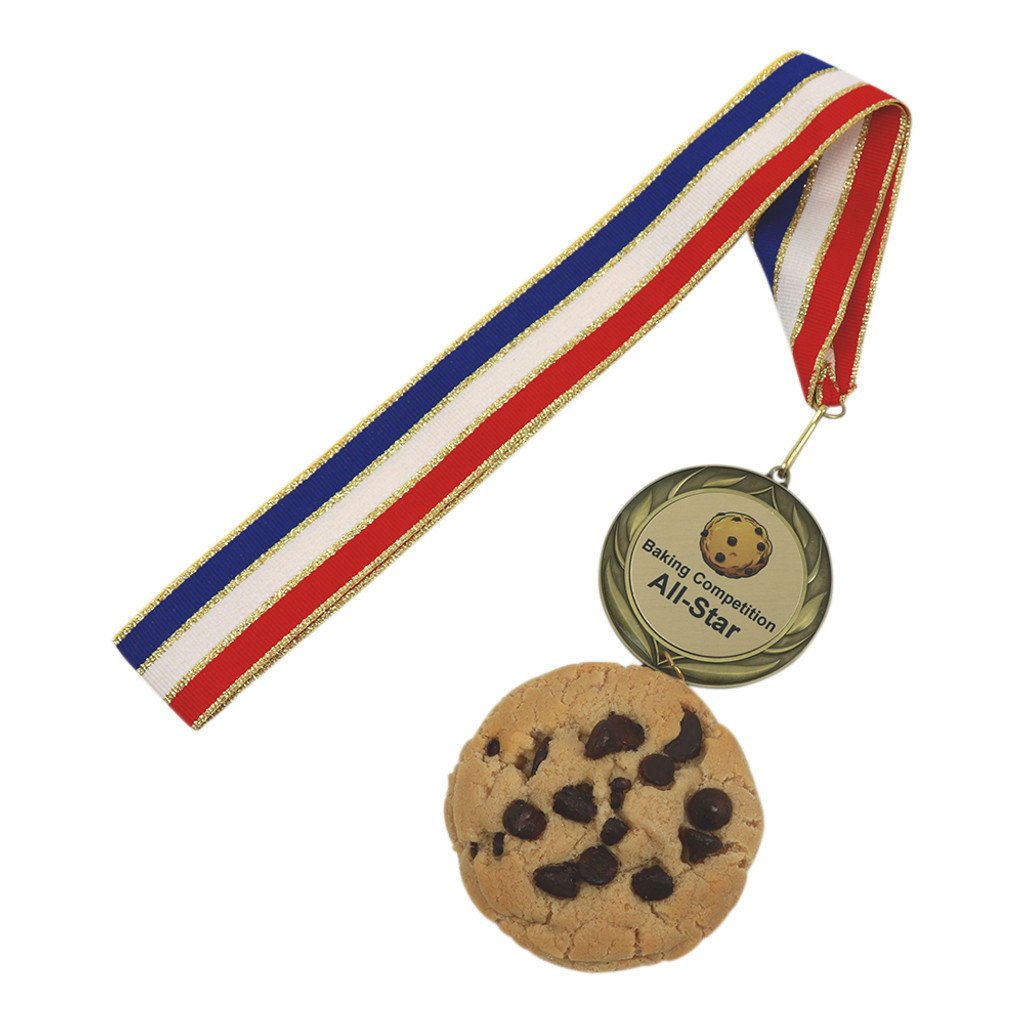 Chocolate Chip Cookie Medal with Personalized Medal
