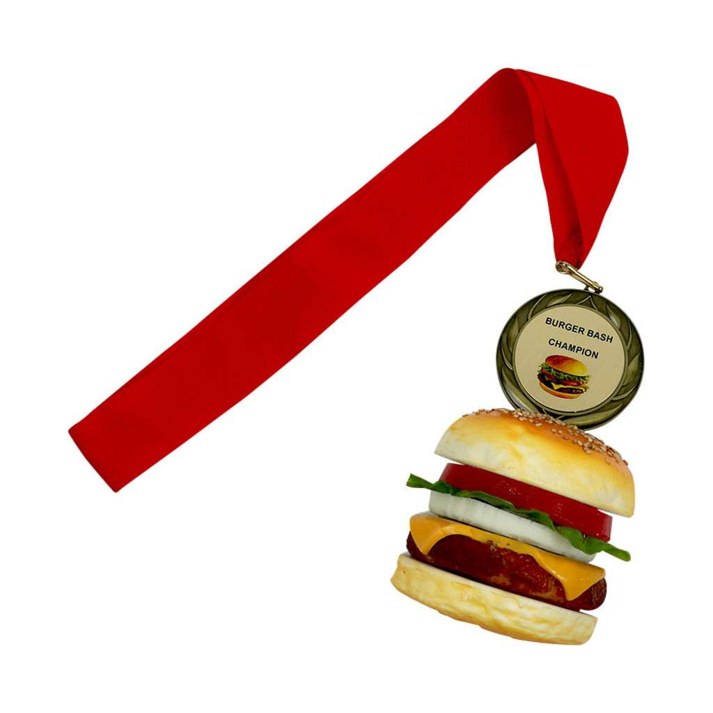 Cheeseburger with personalized engraving
