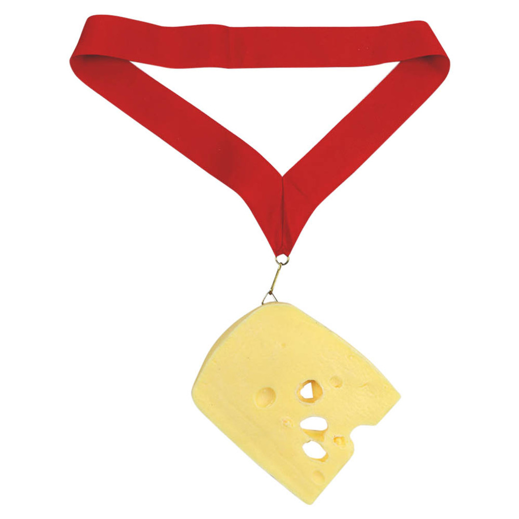 Swiss Cheese Medal with Red Ribbon
