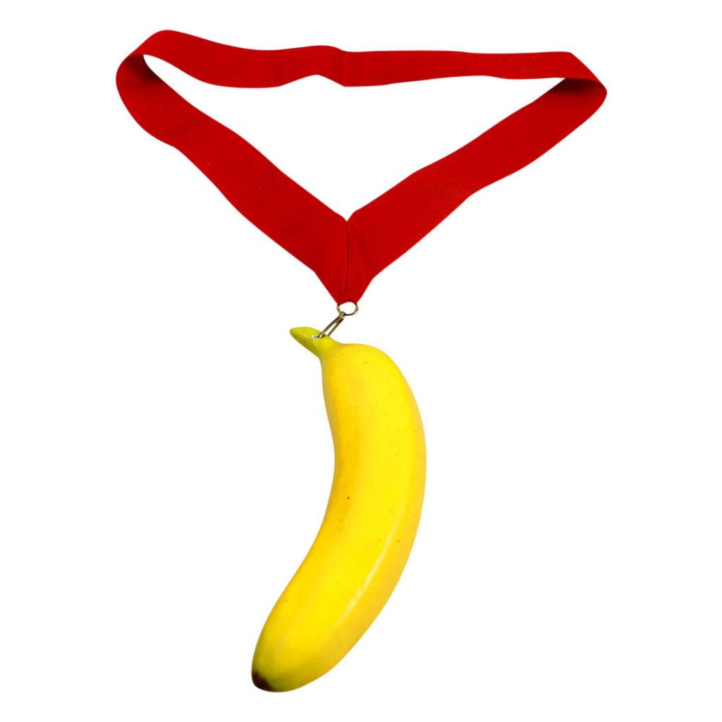 Banana Medal with Red Ribbon