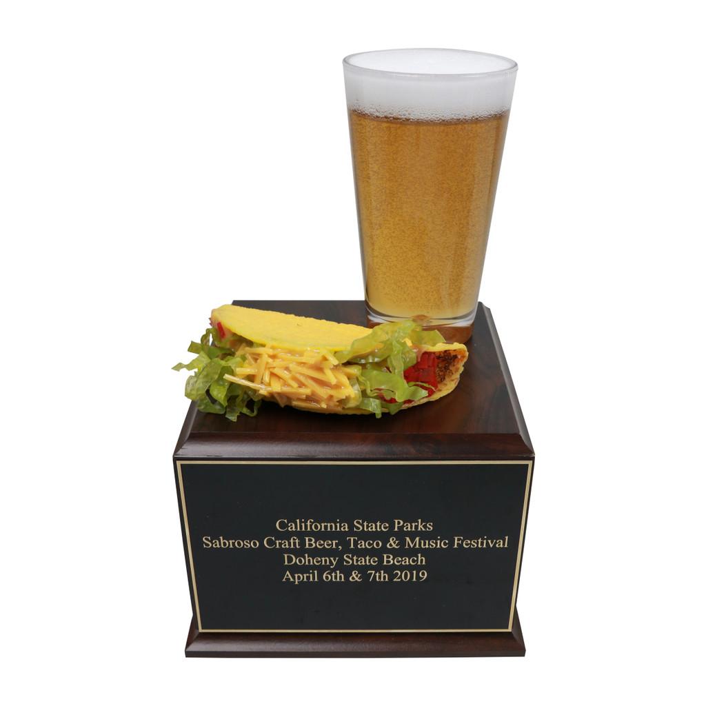 Beer & Taco Trophy