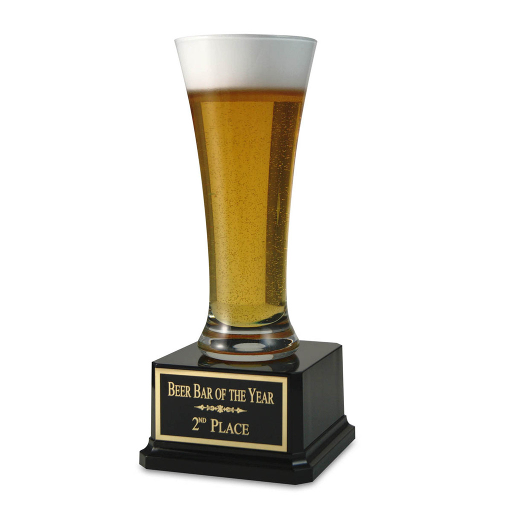 Customize this beer trophy with your own free engraving!