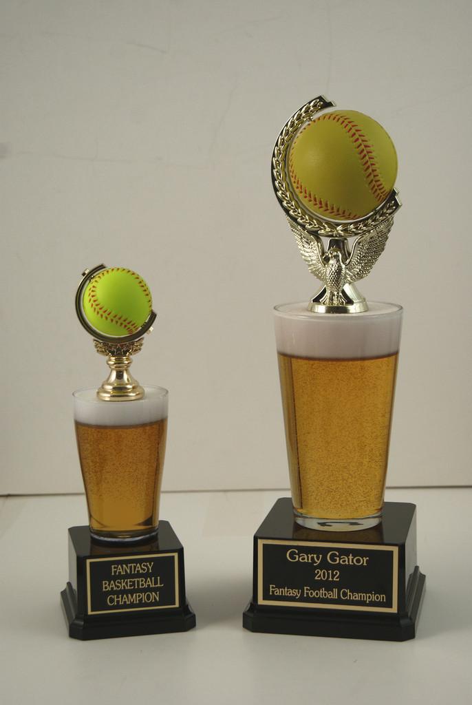 Pint Beer Softball Trophy
