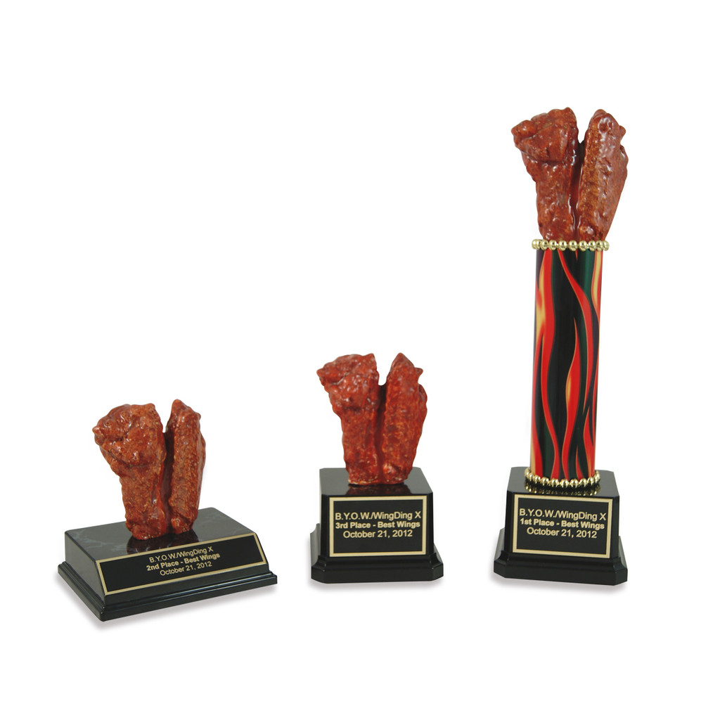 Double Chicken Wing Trophy
