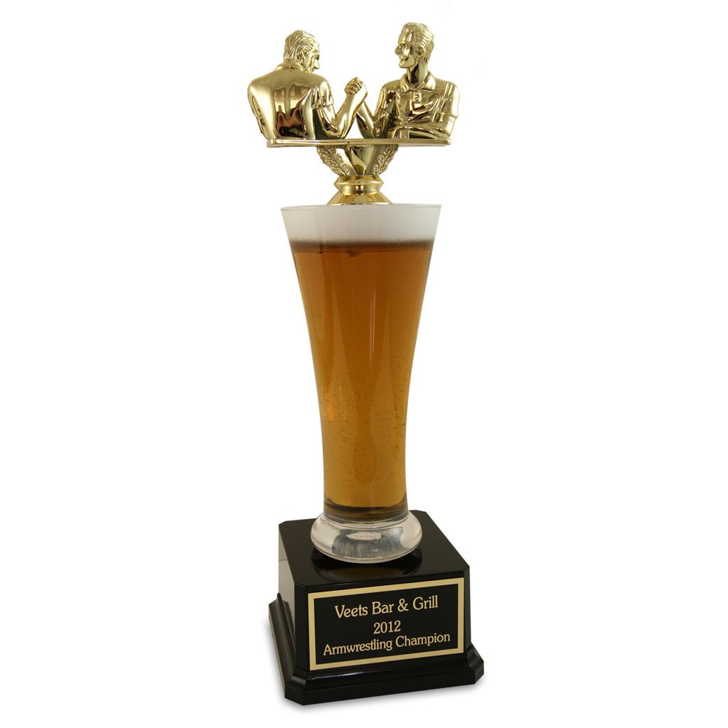 Arm Wrestling Beer Trophy