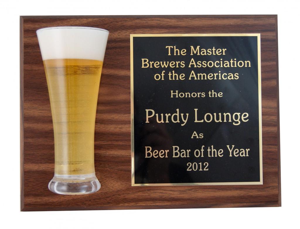 Beer Award Plaque
