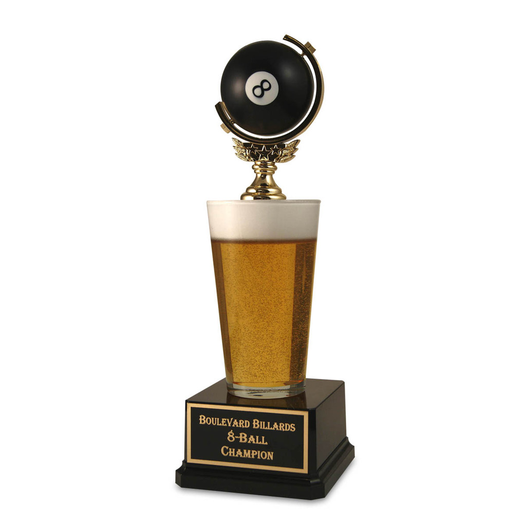 Pool 8-Ball Pint Beer Trophy