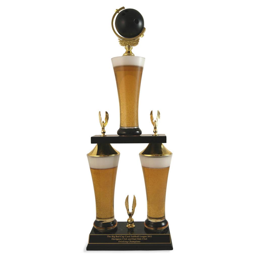 Fantasy Bowling Beer Trophy