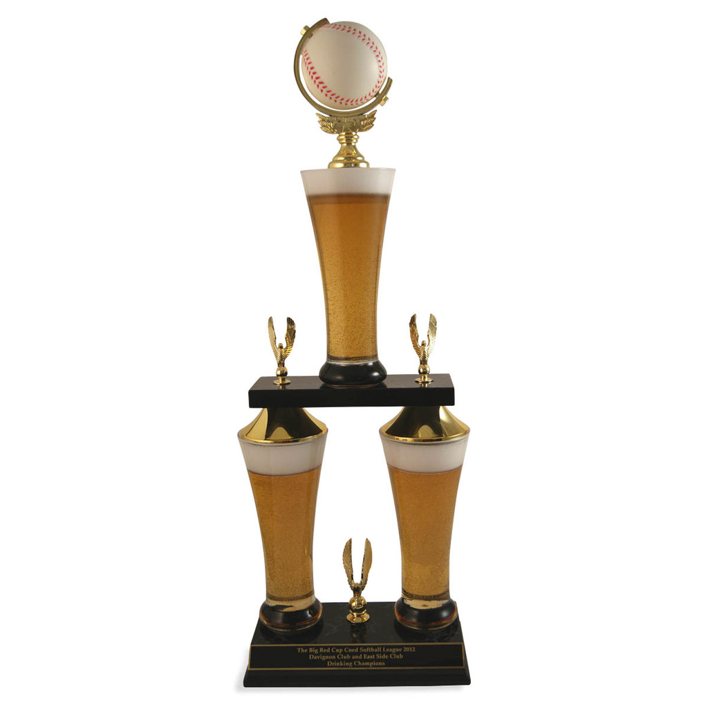 Fantasy Baseball Beer Trophy
